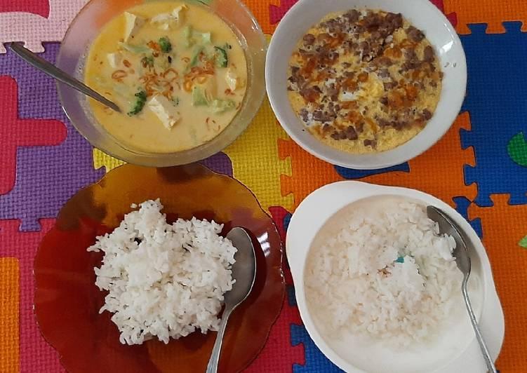 MPASI 12M+ Lodeh Tahu Brokoli, Telur Daging Kukus