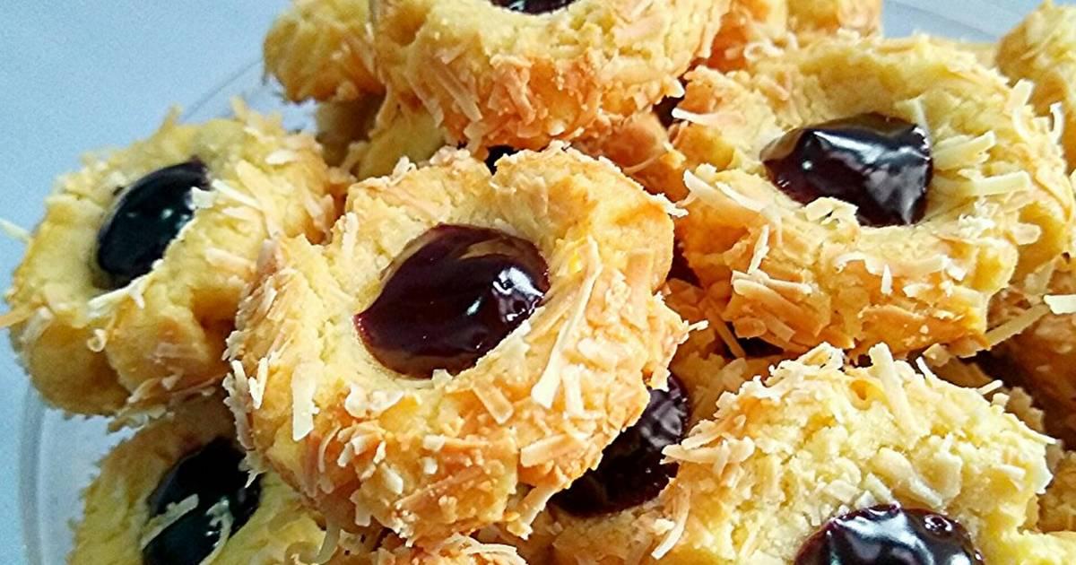 Resep Blueberry Thumbprint Kue Kering Untuk Lebaran Oleh Uli S Kitchen Cookpad