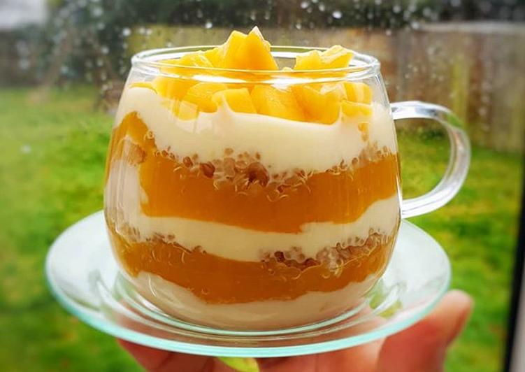 Recipe of Favorite Overnight Mango Quinoa Parfait