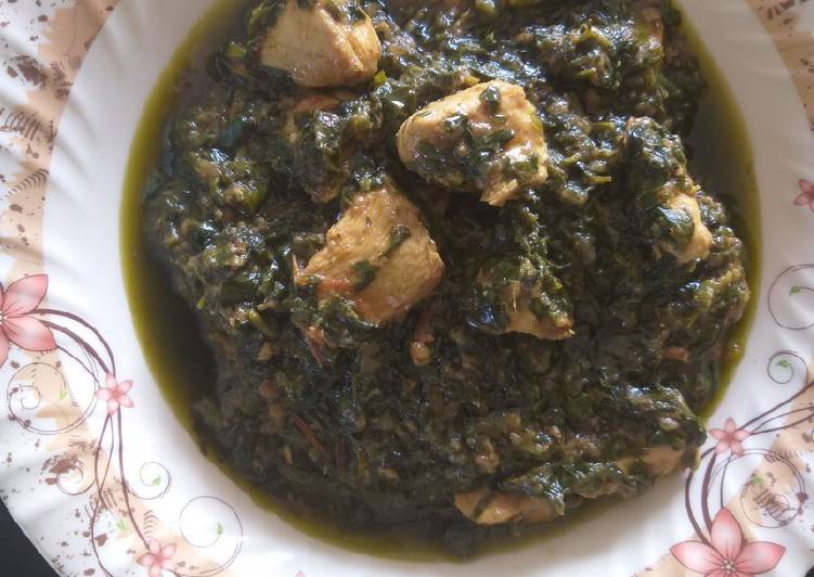 Simple Way to Prepare Perfect Chicken spinach fenugreek leaves