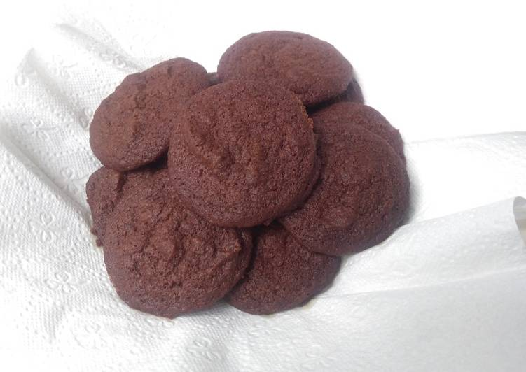 Simple Chocolate Cookies Kue Kering Coklat Sederhana