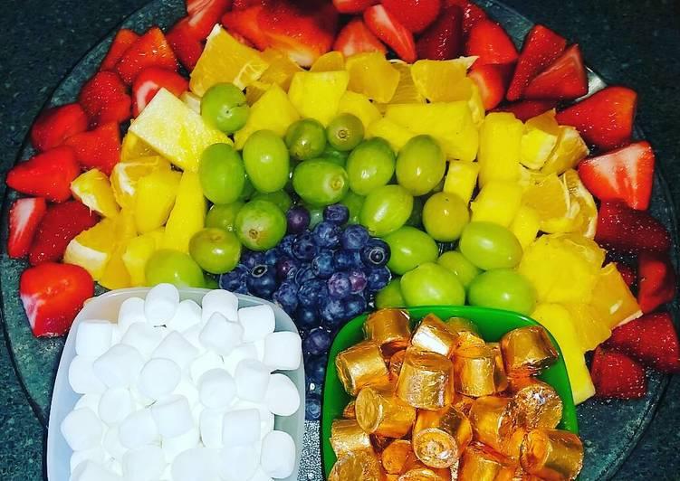 St. Patty's Rainbow Fruit Platter