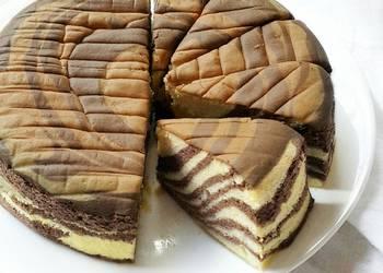 Easiest Way to Cook Yummy Ogura Zebra Cake
