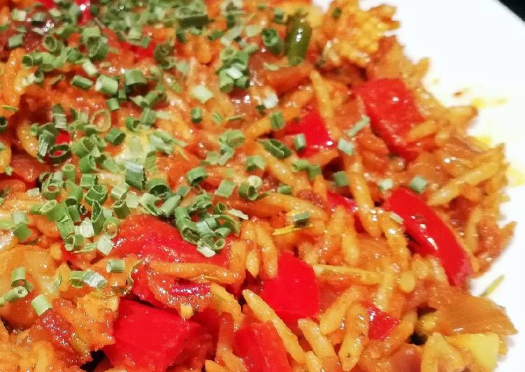 Spicy Red Risotto (Vegan)