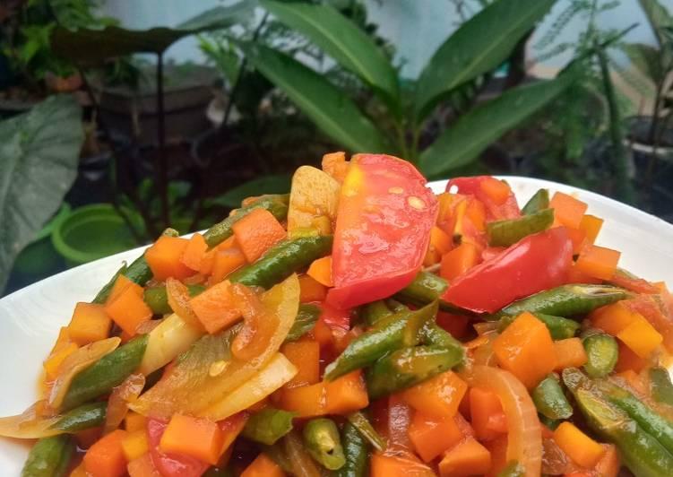 Resep Wortel Kacang Pedas Manis (Menu Diet)