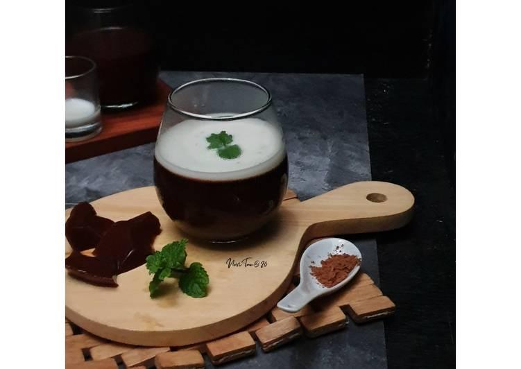 resep cara membuat 190. Puding Coklat Lembut Saus Vanila