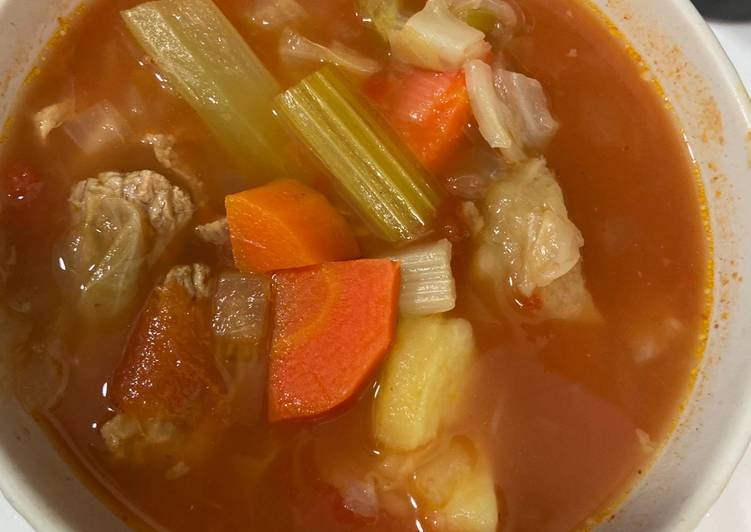 SUP tomat sayur & buntut sapi