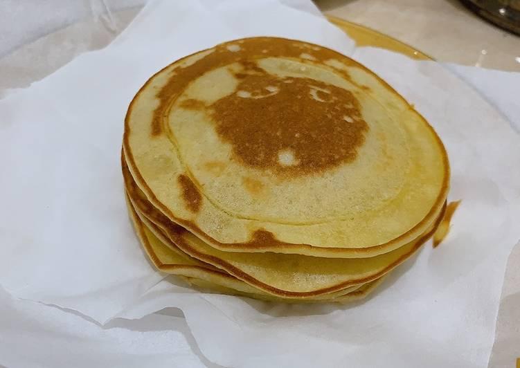 Pancake / Panekuk mudah enak tanpa telur