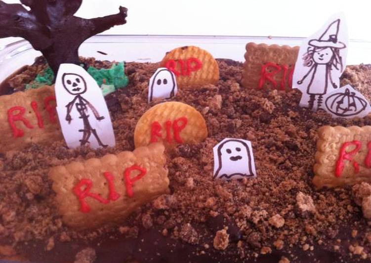 Cemetery Cookie Tart for Halloween