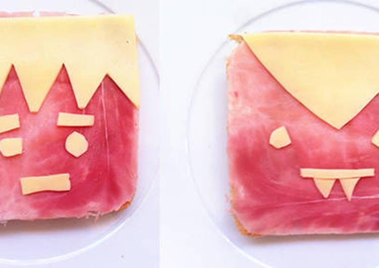 5 Minute Simple Way to Make Diet Perfect Fun Halloween Sandwich Snacks