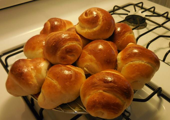 Easiest Way to Cook Appetizing Almond milk dinner roll bread with homemade sourdough