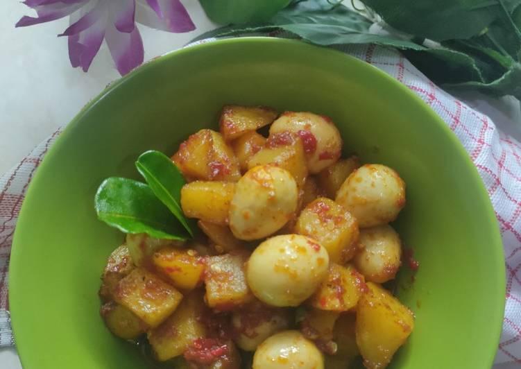 Resep Sambal goreng kentang telur puyuh yang Lezat