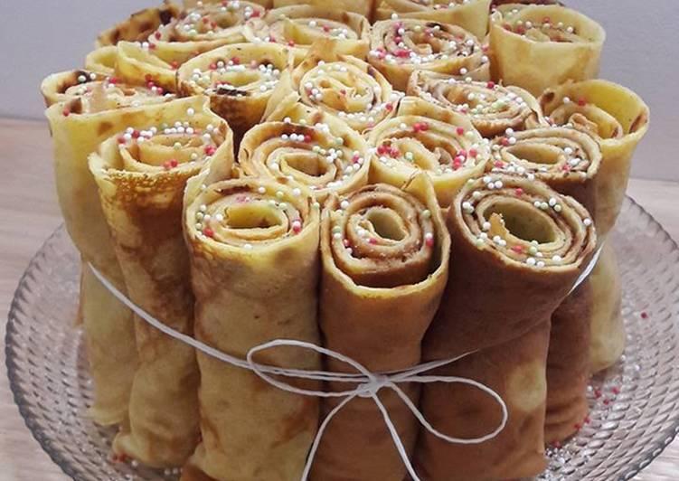 Gâteau de crêpes verticales