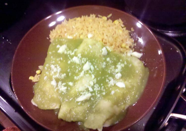 Use Food to Elevate Your Mood green authentic enchiladas