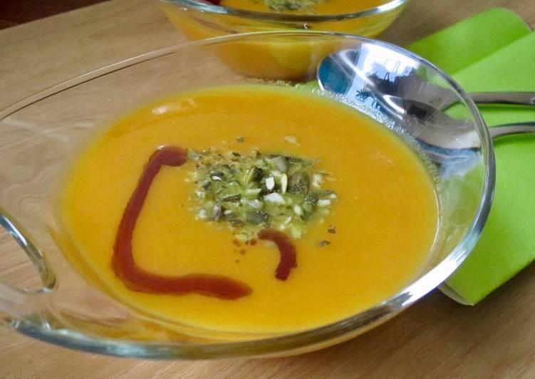 La Délicieuse Recette du Soupe aux carottes, curry et gingembre