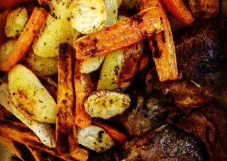 Légumes rôtis (magrets d'oie confits,c'était le test de l'hiver