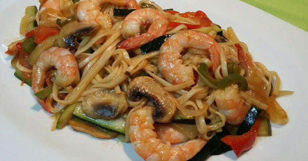 Ramen Noodles Con Verduras Y Gambas Receta De Disfruta Cocinando Con Fernando Cookpad