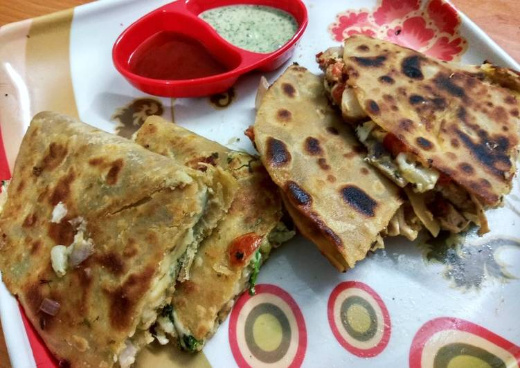 Quesadilla - Indian Style(both veg and non-veg type)