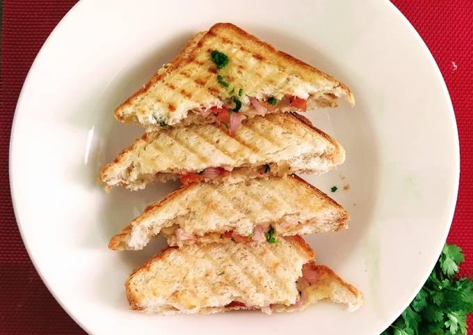 Grilled salad sandwich