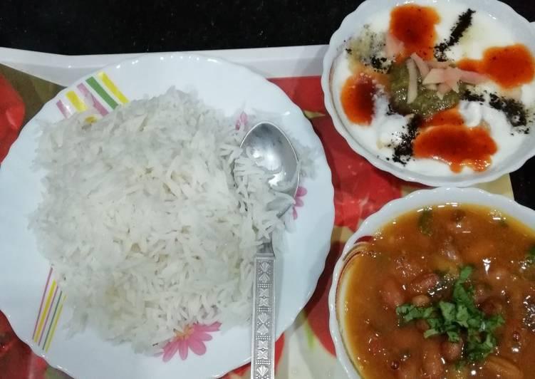 Rajma rice (kidney beans)(Lunch platter)
