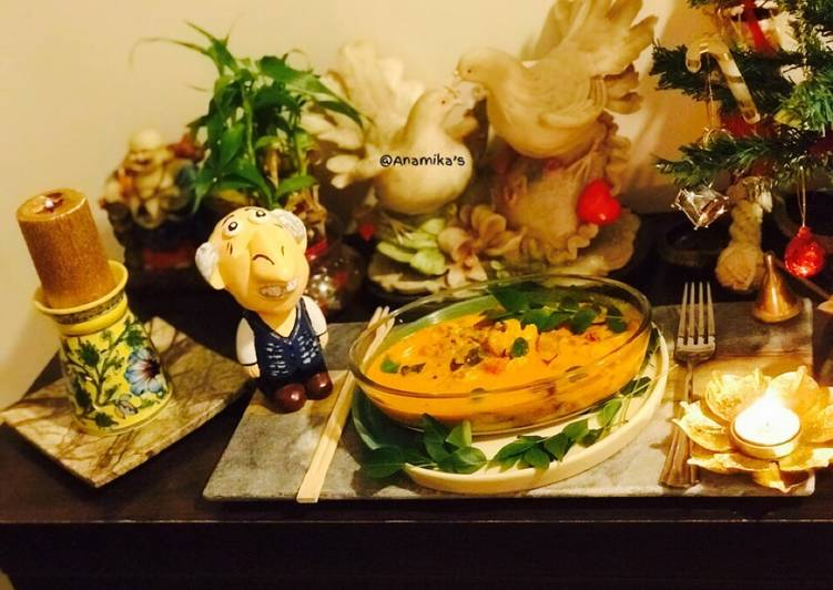 The Best Dinner Ideas Love Prawns Coconut Milk Curry Goan Kerala Style Sungtachi Kodi Chemmeen Curry