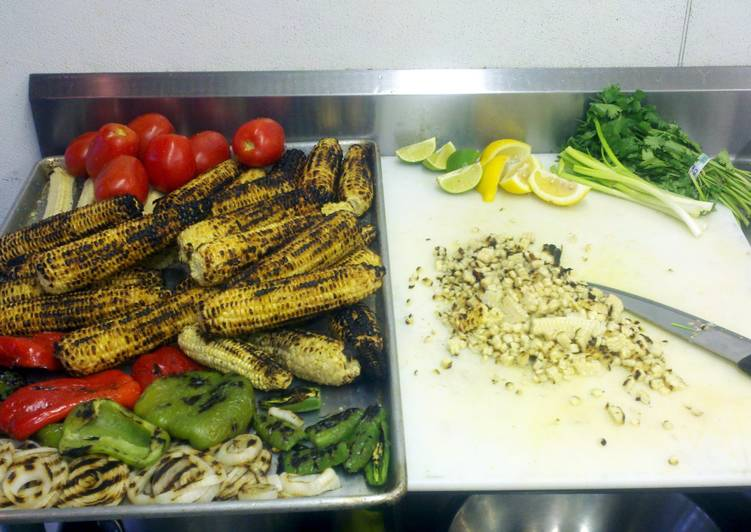 Steps to Prepare Award-winning grilled corn salsa