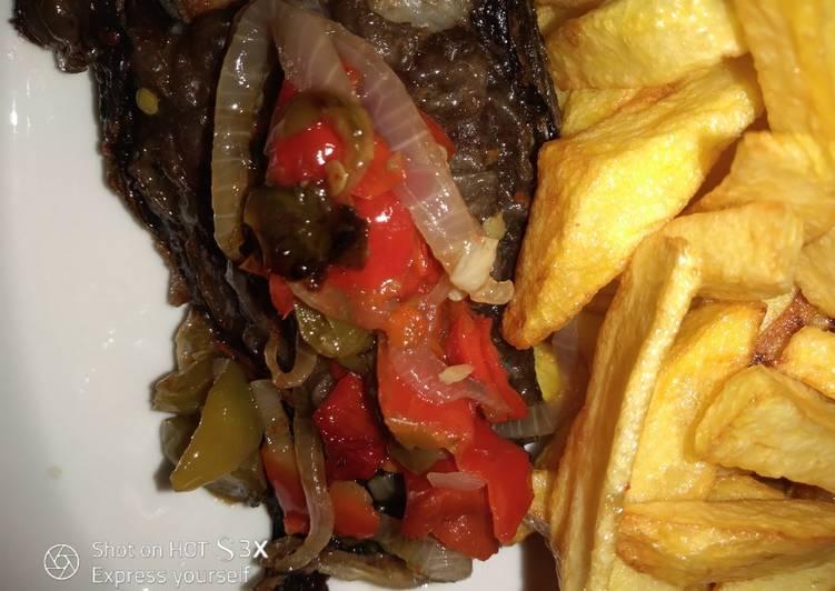 Potato fries & garlic fish fries #AbujaMoms #Abjmoms