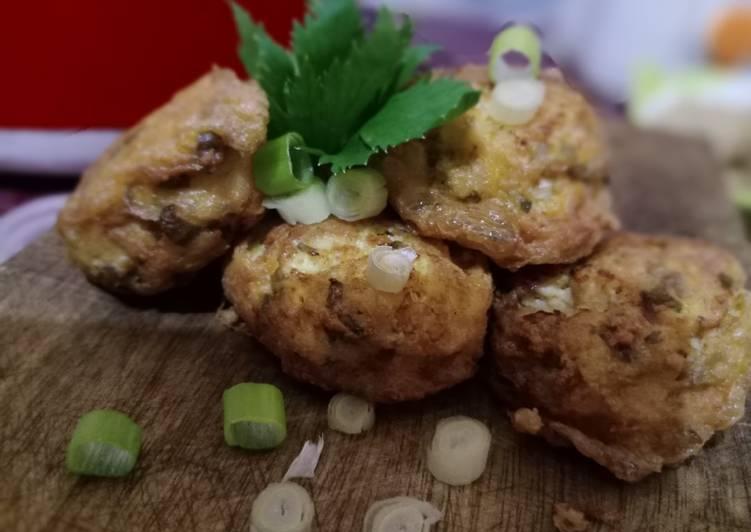 Perkedel Cinta (tahu, udang dan ayam) - cookandrecipe.com