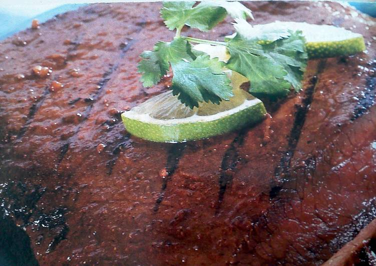 Fajita flank steak, with lime