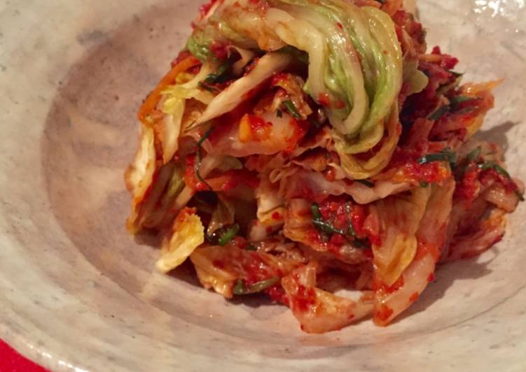 Easiest Way to Cook Delicious Vegan kimchi