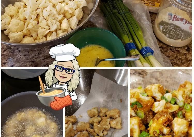 Recipe of Ultimate Cauliflower Bites 🥘 with Sticky Sweet Tamari Sauce