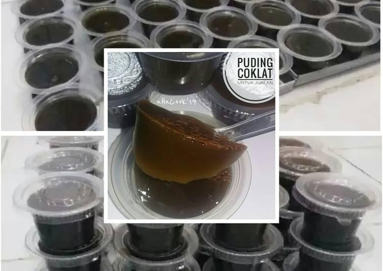Puding coklat 2 sachet swalow (jadi 50 buah)
