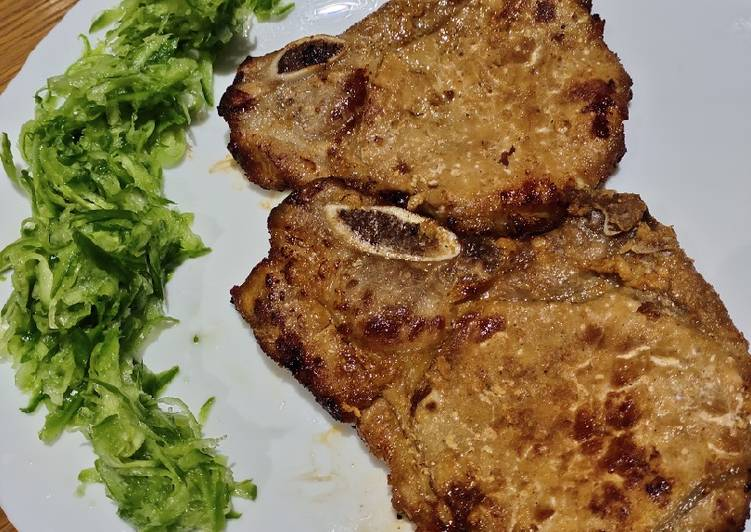 Steps to Prepare Delicious Pan Fried Porkchops