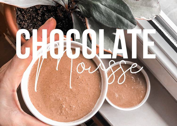 The Most Simple Chocolate Mousse – 4 Ingredients 5 Minutes