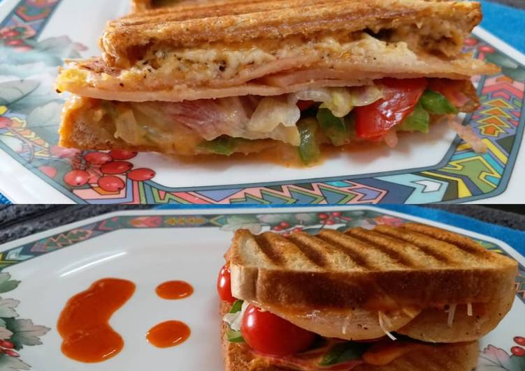 Discover How to Improve Your Mood with Food Chicken Salami and Cheese Grilled Sandwich