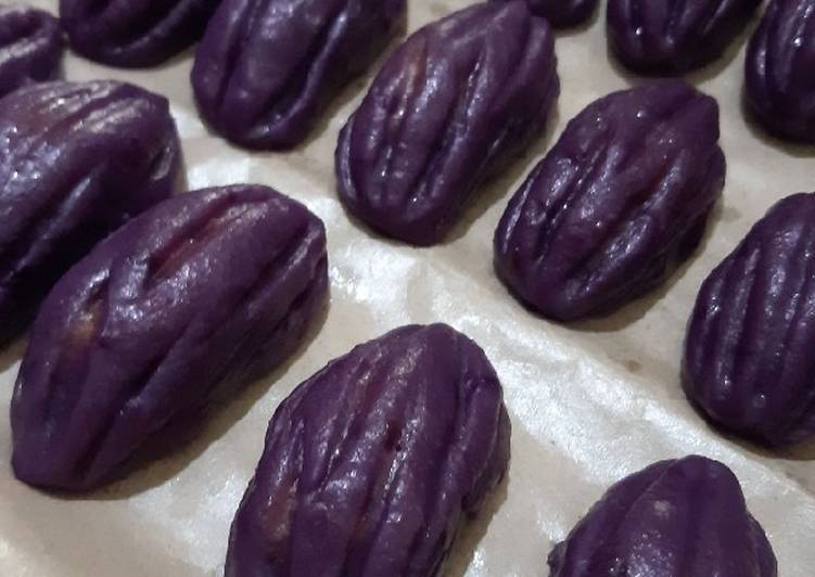 Pare ubi ungu inti durian