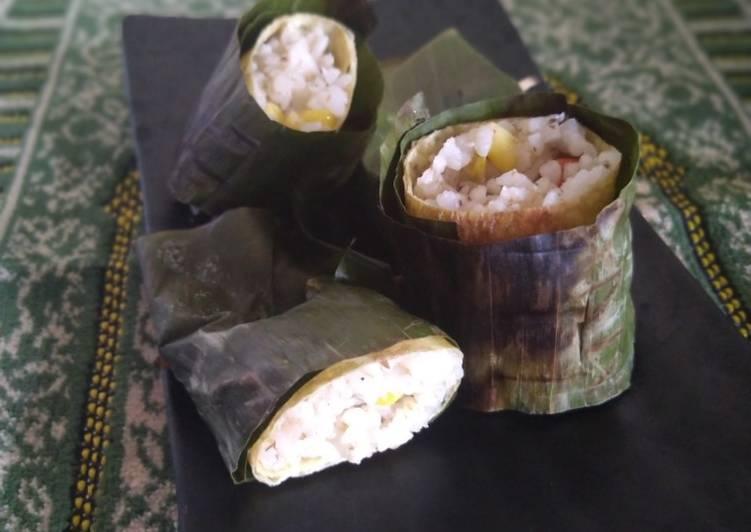 Nasi Bakar isi ikan sarden ✨🐟