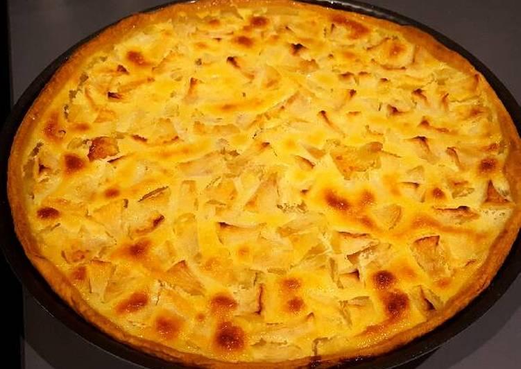 recette Tarte Normande aux pommes délicieux