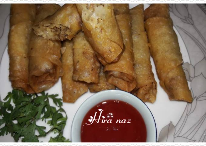 Chinese Beef Spring Rolls