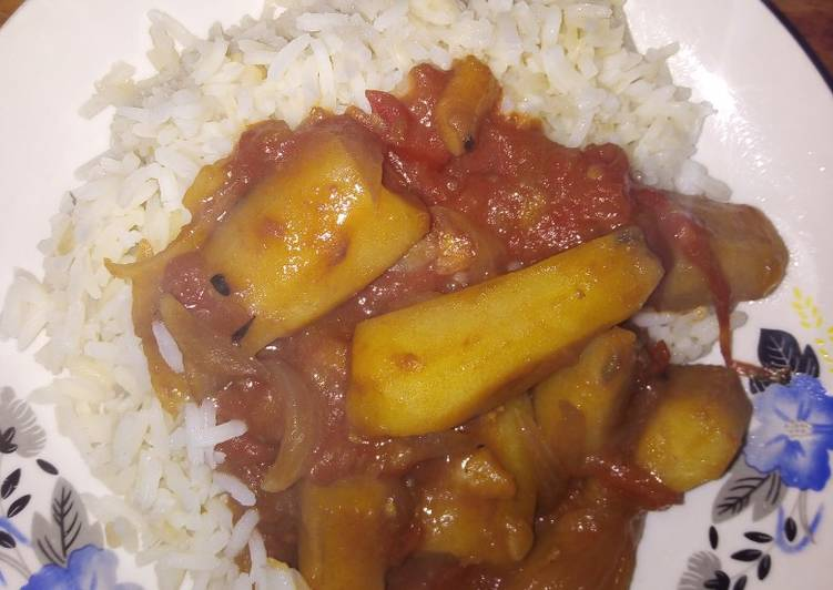 Recipe of Any-night-of-the-week Boiled matoke with rice #4weeks challenges #authormarathon