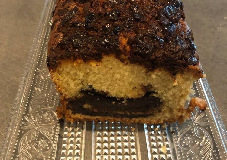 Recette Savoureux Cake aux deux chocolats