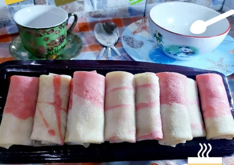 Resep Dadar gulung merah putih wajib dicoba