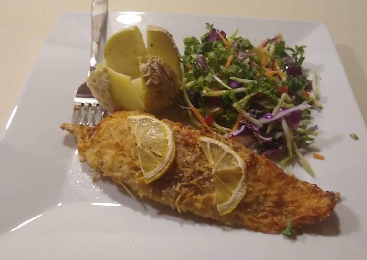 How to Prepare Homemade Parmesan Crusted Tilapia
