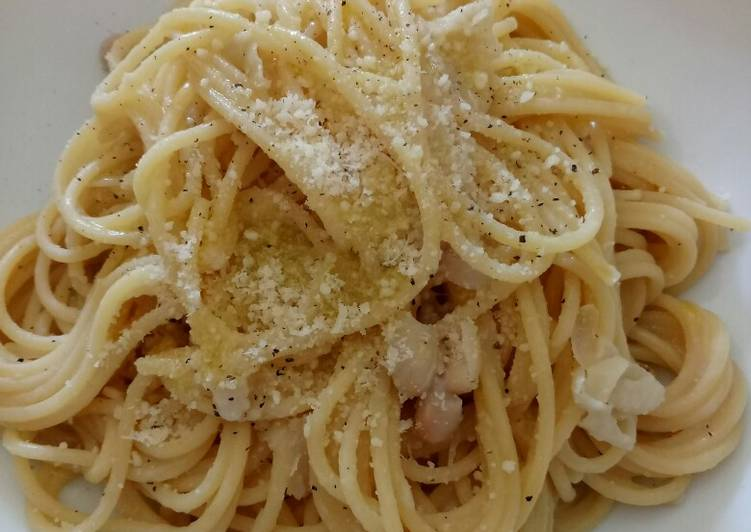 Recipe of Super Quick Homemade Spaghetti with creamy cannellini bean sauce #WorldPulseDay