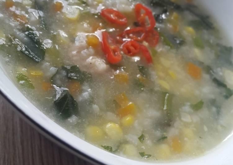 Resep Bubur ayam sayuran Paling Joss