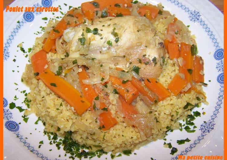Poulet aux carottes version allégée