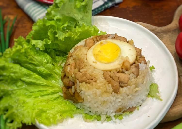 Resep Nasi Tim Ayam ala Tiger Kitchen (menggunakan kuah kaldu dari beli bakmi) Anti Gagal
