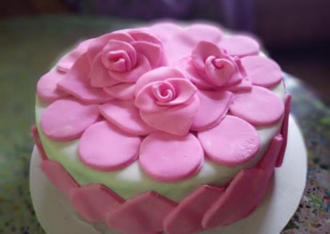 Recipe Of Homemade Fondant Cake Delicious Recipes