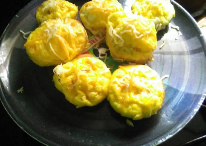 Simple egg & ham muffins