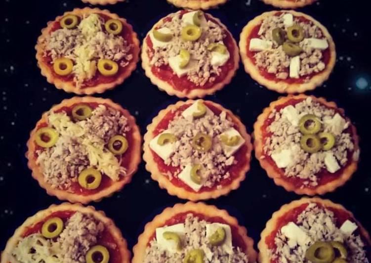 Mini pizzas aux poulet et fromage